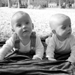 Twins in B&W